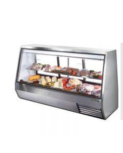 """True TDBD-96-3 96"""" Three Door Double Duty Refrigerated Deli Case - 63.5 cu. ft."""