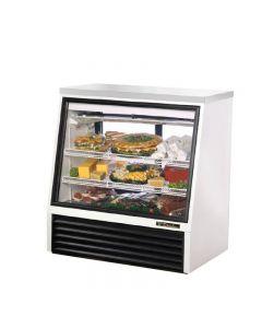 True TSID-48-2 White Single Duty Two Door Refrigerated Deli Case - 16 cu. ft.