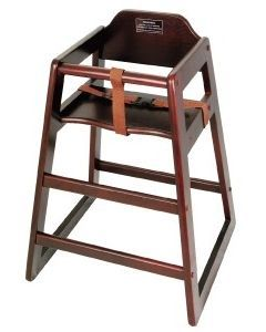 Stacking High Chair Mahogony - Unassembled  CHH-103