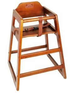 Stacking High Chair Walnut - Unassembled  CHH-104
