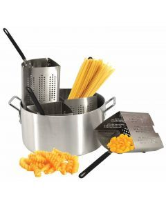 Aluminum Pasta Cooker Set with 4 Stainless Steel Inserts