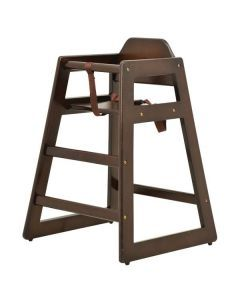 Commercial Wooden High Chair with Walnut Finish