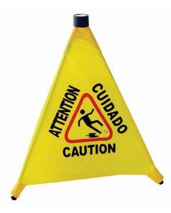 "Caution Sign 4-Face Pop-Up 20"" 8524"