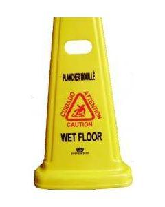 """Wet Floor Sign 27"""" Cone Shape 85272"""