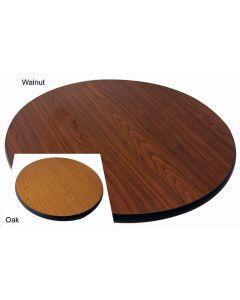 """Table Top 24""""Rd.Oak/Walnut 91111"""