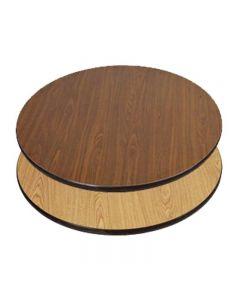 """Table Top 36""""Rd.Oak/Walnut 91113"""