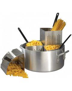 "20 Qt Pasta Cooker Set - 14"" x 11"" Pot with 4 Inserts     APS-20"