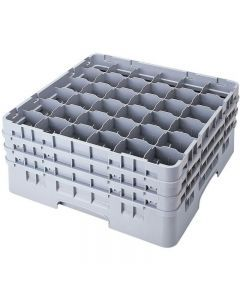 """Cambro 36 CompartmentGlass Washing Camrack, Full Size - 5-1/4"""" 36S434 Case Pack 4"""