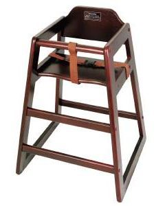 Stacking High Chair Mahogony - (Assembled)