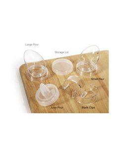 Set of 8 Plain Salad Dressing Bottle Clips  CLIPS-PLAIN-PC-CL