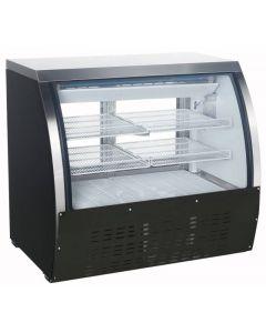 "Zanduco 47"" Black Coated Steel Floor Model Refrigerated Showcase 18 cu. ft."