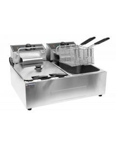 110V Double Table Top Electric Countertop Fryer