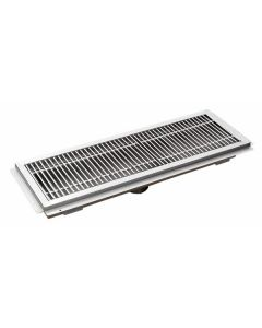 """12"""" x 60"""" Floor Trough With Stainless Steel Grating"""