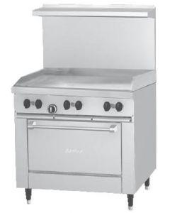 """Garland G36-G36R G Series 36"""" Gas Restaurant Range with 26"""" Oven"""