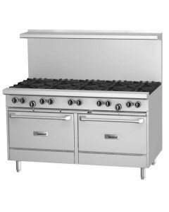 """Garland G60-10RR G Series 60"""" Gas Restaurant Range with 10 Burners and 2 Ovens"""