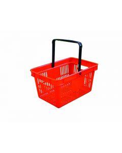 Red Plastic Shopping Basket