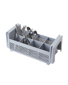 Cambro 8FBNH434  8Compartment 1/2 Flatware Basket/No Handles Case Pack 6