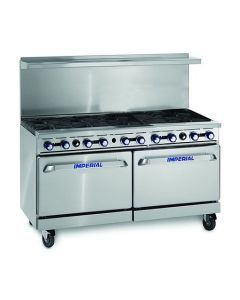 """Imperial IR-10 60"""" 10 Open Burners - (2) 26.5"""" Wide Standard Ovens"""