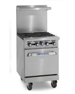 """Imperial IR-4  24"""" 4 Open Burners - (1) 20"""" Wide Oven"""