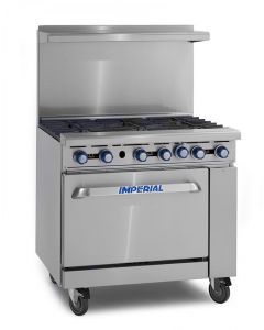 """Imperial IR-6 36"""" 6 Open Burners - (1) 26.5"""" Wide Oven"""