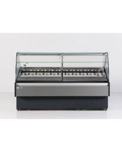 "Hydra-Kool KFM-GL-80-S 77.5"" Gelato Dipping Cabinet with 22 Pan Capacity"