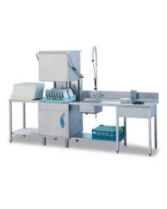 Lamber L21EKDPS 30 Racks/Hour High Temperature Pass Through Dishwasher with Drain Pump 208-240v