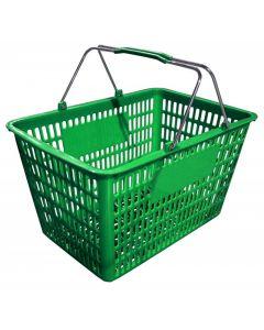 "18.75"" X 11.5"" Plastic Grocery Market Shopping Basket - Green"