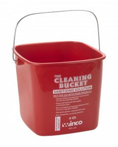 Cleaning Bucket, 6 Qt, Red Sanitizing Solution     PPL-6R