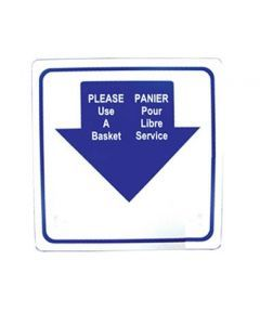 Shopping Basket Sign, English/French