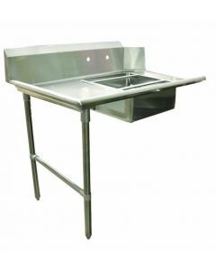 """Zanduco 48""""   Left Side Soiled Dish Table with Sink"""