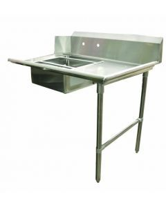 """Zanduco 48""""   Right Side Soiled Dish Table with Sink"""
