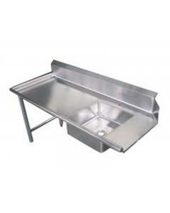 """Zanduco 60""""   Left Side Soiled Dish Table with Sink"""