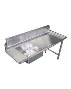 """Zanduco 60""""   Right Side Soiled Dish Table with Sink"""