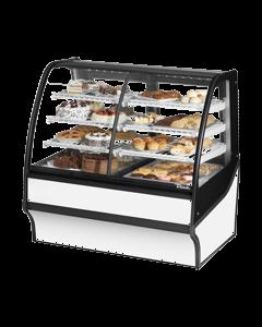 "True TCGDZ-50 50"" Curved Glass Dual Zone Dry / Refrigerated Bakery Case - 27 cu. ft."