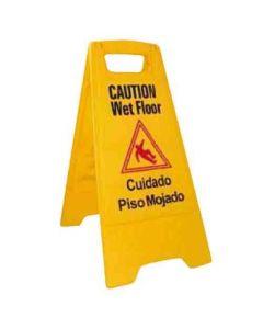 """Wet Floor Caution Sign, Yellow, 25""""X12""""  WCS-25"""
