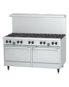 """Garland X60-10RR Sunfire™ X Series 60"""" Gas Restaurant Range with 10 Burners and 2 Ovens"""